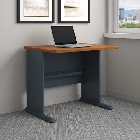 Bush Series A 36W Desk, Natural Cherry WC57436 ; UPC: 042976574369 ; Image 2