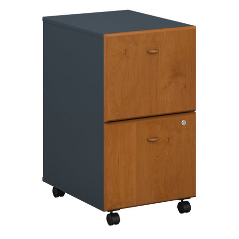 Bush Series A 2 Drawer Mobile Pedestal - Assembled, Natural Cherry WC57452PSU ; UPC: 042976574925 ; Image 1