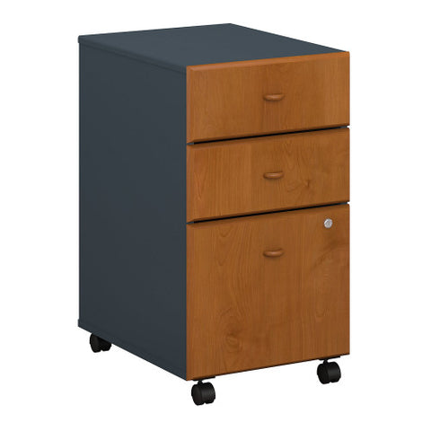 Bush Series A 3 Drawer Mobile Pedestal - Assembled, Natural Cherry WC57453PSU ; UPC: 042976574932 ; Image 1