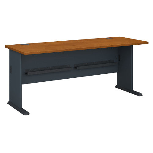 Bush Series A 72W Desk, Natural Cherry WC57472 ; UPC: 042976574727 ; Image 1