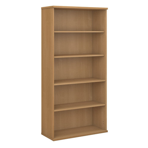Bush Series C 36W 5-Shelf Bookcase, Light Oak WC60314 ; UPC: 042976603144 ; Image 1