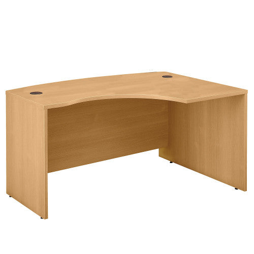 Bush Series C 60W x 43D Right Hand L-Bow Desk Shell, Light Oak WC60322 ; UPC: 042976603229 ; Image 1