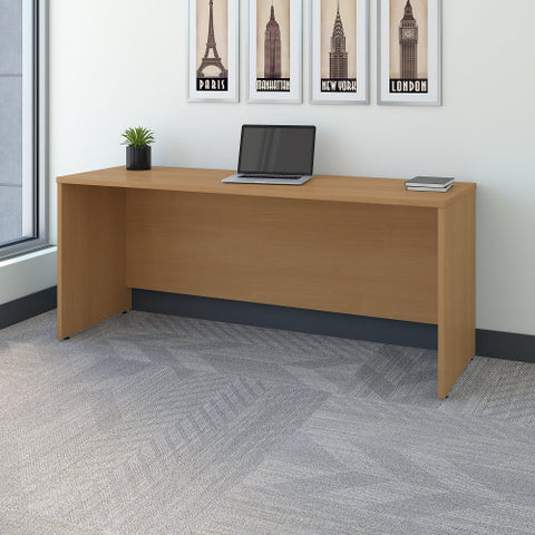 Bush Series C 72W Credenza - Desk Shell, Light Oak WC60326 ; UPC: 042976603267 ; Image 2