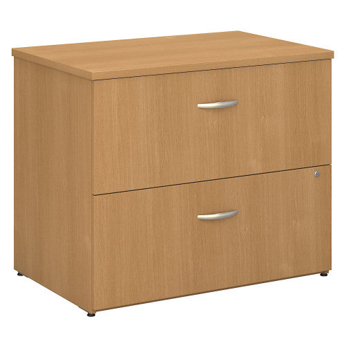 Bush Series C 36W 2-Drawer Lateral File - Assembled, Light Oak WC60354CSU ; UPC: 042976453060 ; Image 1