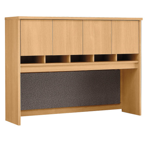 Bush Series C 60W Hutch 4 Door, Light Oak WC60362K ; UPC: 042976603625 ; Image 1