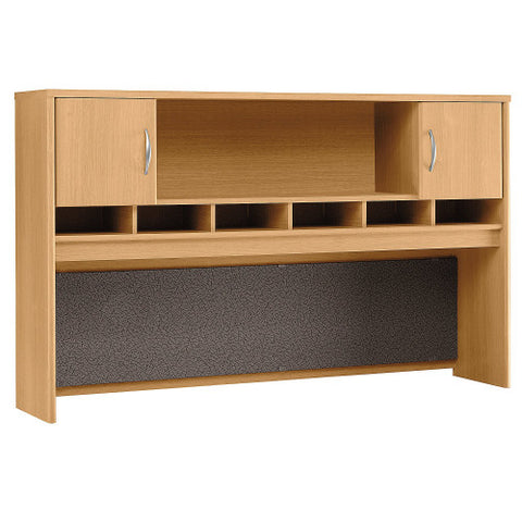 Bush Series C 72W 2 Door Hutch, Light Oak WC60366K ; UPC: 042976603663 ; Image 1