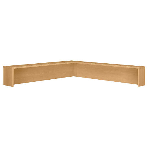 Bush Series C Reception L-Shelf, Light Oak WC60376 ; UPC: 042976603762 ; Image 1