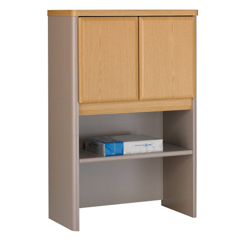 Bush Series A 24W Storage Hutch, Light Oak WC64325P ; UPC: 042976643256 ; Image 1