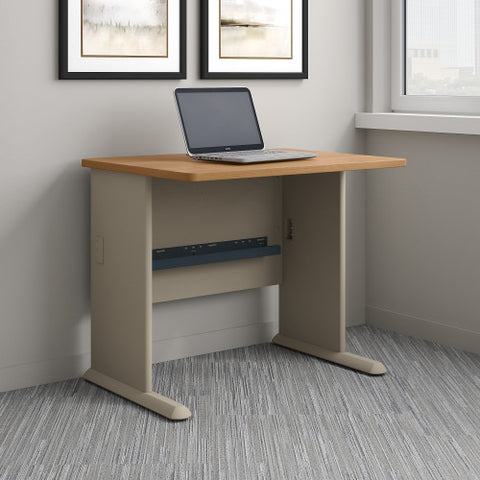 Bush Series A 36W Desk, Light Oak WC64336 ; UPC: 042976643362 ; Image 2