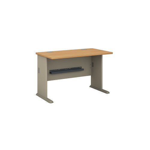 Bush Series A 48W Desk, Light Oak WC64348 ; UPC: 042976643485 ; Image 1