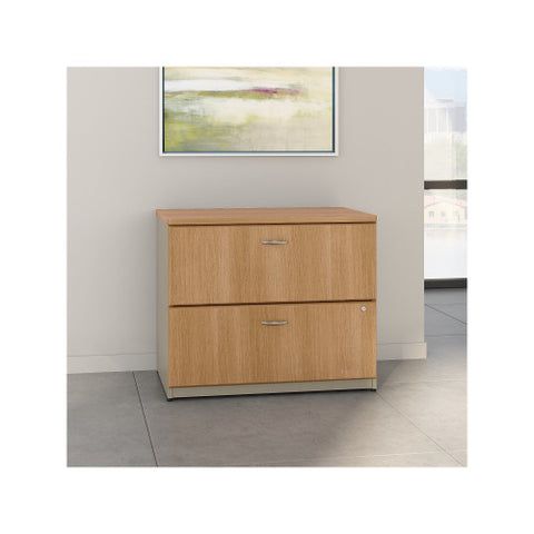 Bush Series A 36W 2-Drawer Lateral File, Light Oak WC64354P ; UPC: 042976643546 ; Image 2