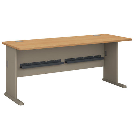 Bush Series A 72W Desk, Light Oak WC64372 ; UPC: 042976643720 ; Image 1