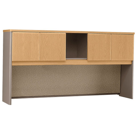Bush Series A 72W Hutch, Light Oak WC64373P ; UPC: 042976643737 ; Image 1