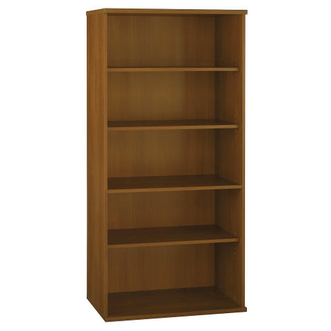 Bush Series C 36W 5-Shelf Bookcase, Warm Oak WC67514 ; UPC: 042976675141 ; Image 1