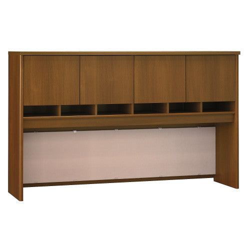 Bush Series C 72W 4 Door Hutch, Warm Oak WC67577K ; UPC: 042976675776 ; Image 1