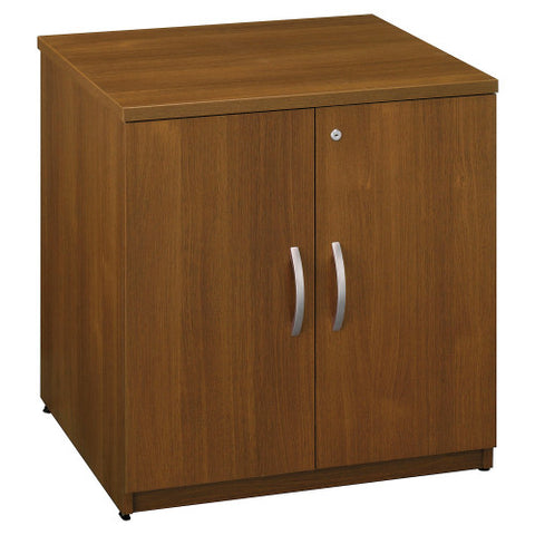 Bush Series C 30W Storage Cabinet, Warm Oak WC67596 ; UPC: 042976675967 ; Image 1
