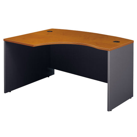 Bush Series C 60W x 43D Left Hand L-Bow Desk Shell, Natural Cherry WC72433 ; UPC: 042976724337 ; Image 1