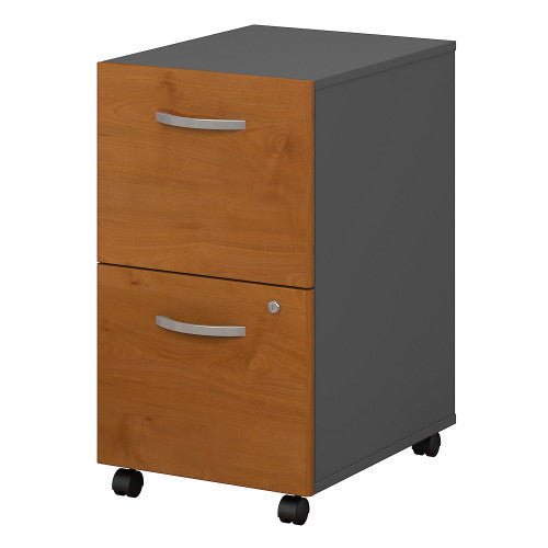 Bush Series C 2 Drawer Mobile Pedestal, Natural Cherry WC72452 ; UPC: 042976724528 ; Image 1