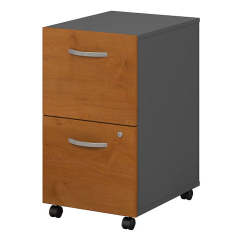 Bush Series C 2 Drawer Mobile Pedestal - Assembled, Natural Cherry WC72452SU ; UPC: 042976254278 ; Image 1