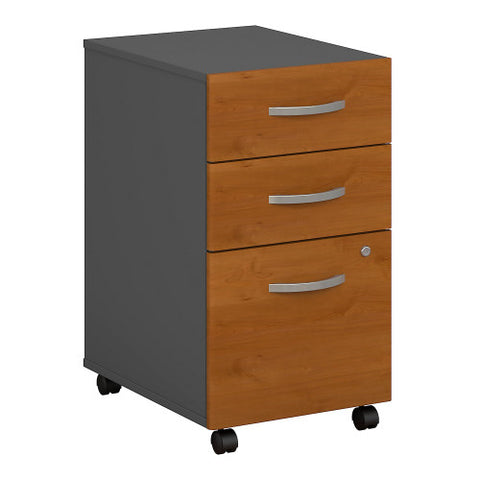 Bush Series C 3 Drawer Mobile Pedestal - Assembled, Natural Cherry WC72453SU ; UPC: 042976724931 ; Image 1