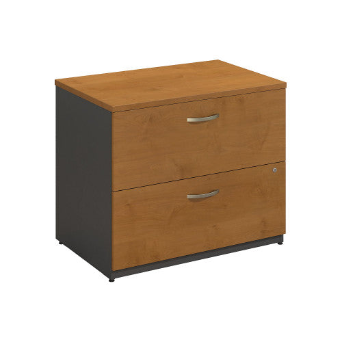 Bush Series C 36W 2 Drawer Lateral File - Assembled, Natural Cherry WC72454CSU ; UPC: 042976724948 ; Image 1