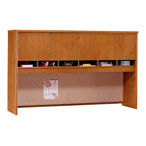 Bush Series C 72W 4 Door Hutch, Natural Cherry WC72477K ; UPC: 042976724771 ; Image 1