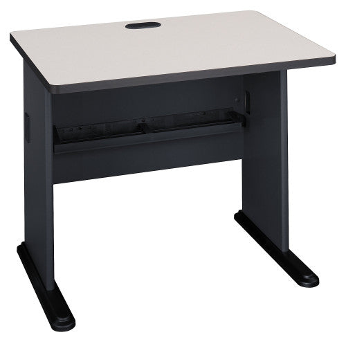 Bush Series A 36W Desk, Slate WC8436A ; UPC: 042976084363 ; Image 1