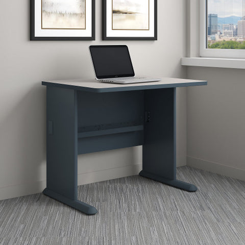 Bush Series A 36W Desk, Slate WC8436A ; UPC: 042976084363 ; Image 2