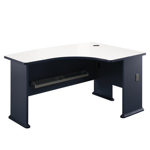 Bush Series A 60W x 44D Right Hand L-Bow Desk, Slate WC84822 ; UPC: 042976848224 ; Image 1