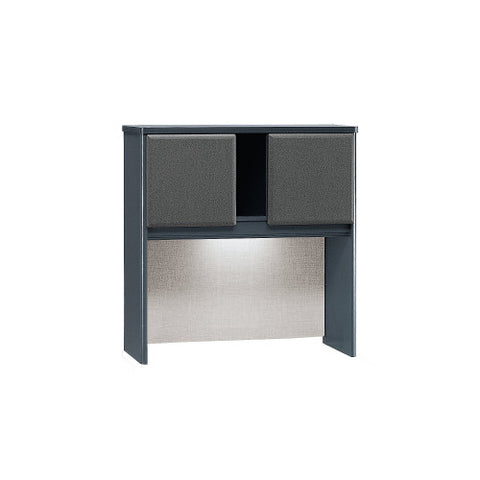 Bush Series A 36W Hutch, Slate WC84837P ; UPC: 042976848378 ; Image 1