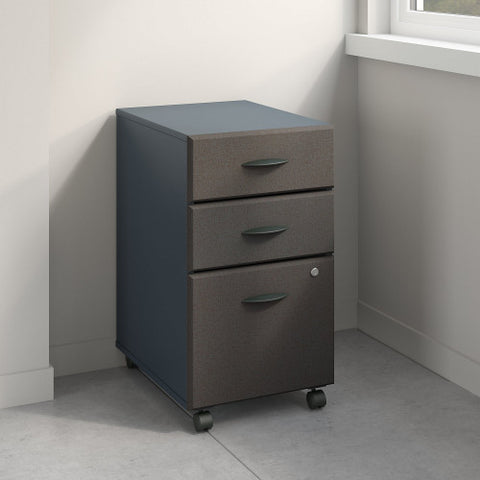 Bush Series A 3 Drawer Mobile Pedestal - Assembled, Slate WC84853PSU ; UPC: 042976848934 ; Image 2