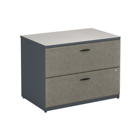 Bush Series A 36W 2-Drawer Lateral File - Assembled, Slate WC84854PSU ; UPC: 042976848941 ; Image 1