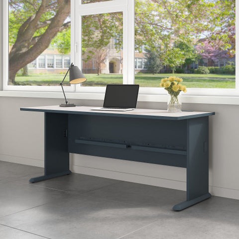 Bush Series A 72W Desk, Slate WC84872 ; UPC: 042976848729 ; Image 2
