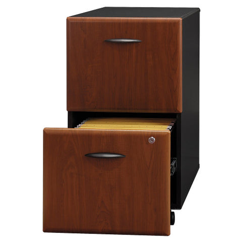 Bush Series A 2 Drawer Mobile Pedestal, Hansen Cherry WC94452P ; UPC: 042976944520 ; Image 3