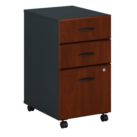 Bush Series A 3 Drawer Mobile Pedestal, Hansen Cherry WC94453P ; UPC: 042976944537 ; Image 1