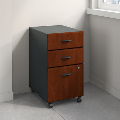 Bush Series A 3 Drawer Mobile Pedestal, Hansen Cherry WC94453P ; UPC: 042976944537 ; Image 2