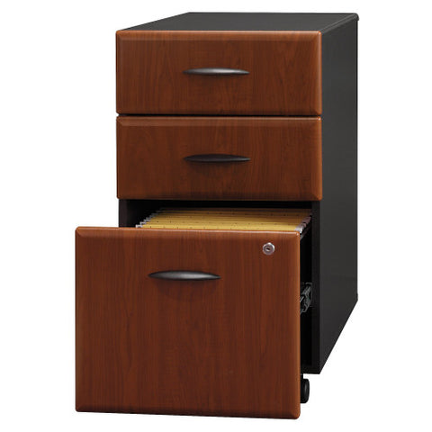 Bush Series A 3 Drawer Mobile Pedestal, Hansen Cherry WC94453P ; UPC: 042976944537 ; Image 3