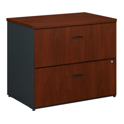 Bush Series A 36W 2-Drawer Lateral File - Assembled, Hansen Cherry WC94454PSU ; UPC: 042976944940 ; Image 1