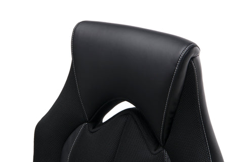 OFM Essentials Collection High-Back Racing Style Bonded Leather Gaming Chair, in Black (ESS-3086-BLK) ; UPC: 192767002554 ; Image 10