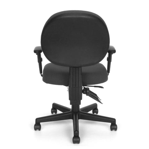 OFM Model 241-AA 24 Hour Ergonomic Upholstered Task Chair with Arms, Charcoal ; UPC: 845123012376 ; Image 5