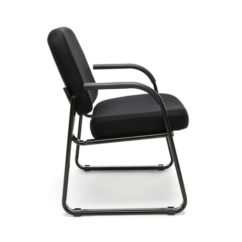 OFM Model 403 Fabric Guest and Reception Chair with Arms and Extra Thick Cushion, Black ; UPC: 811588014163 ; Image 4