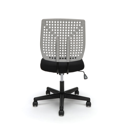 Essentials by OFM ESS-2050 Plastic Back Task Chair, Black with Gray ; UPC: 845123092996 ; Image 3