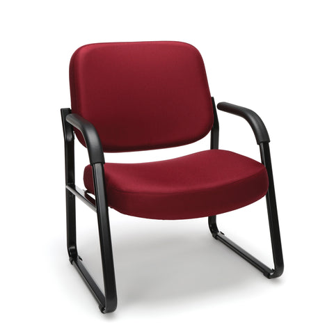 OFM Model 407 Fabric Big and Tall Guest and Reception Chair with Arms, Wine ; UPC: 845123028568 ; Image 1