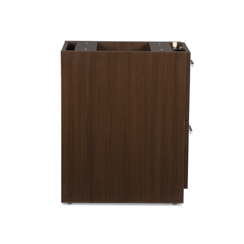 OFM Fulcrum Series Locking Pedestal, 2-Drawer Filing Cabinet, Espresso (CL-FF-ESP) ; UPC: 845123097489 ; Image 4