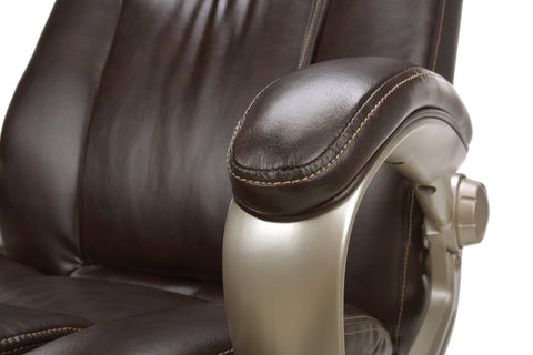 Essentials by OFM ESS-201 Big and Tall Leather Executive Office Chair with Arms, Brown/Bronze ; UPC: 845123080122 ; Image 8