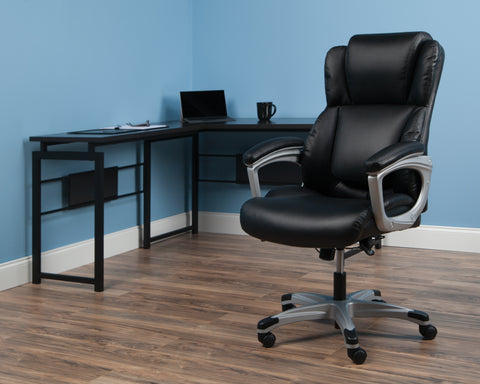 OFM Essentials Series Ergonomic Executive Bonded Leather Office Chair, in Black (ESS-6033-BLK) ; UPC: 192767000284 ; Image 12
