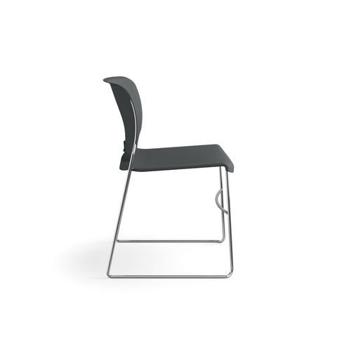 HON Olson Stacking Chair - Guest Chair for Office, Cafeteria, Break Rooms, Training or Multi-Purpose Rooms, Lava Shell, 4 pack (HON4041LA) ; UPC: 791579239860 ; Image 4