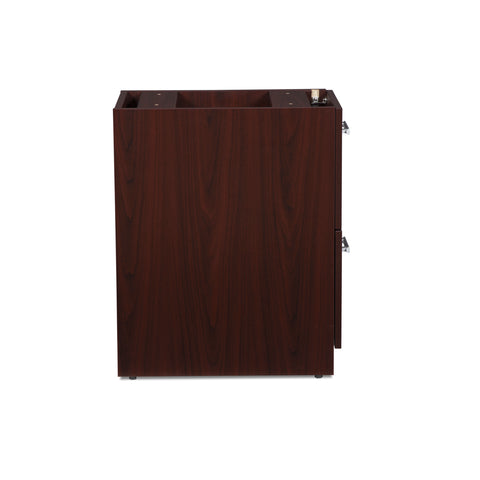 OFM Fulcrum Series Locking Pedestal, 2-Drawer Filing Cabinet, Mahogany (CL-FF-MHG) ; UPC: 845123097496 ; Image 4
