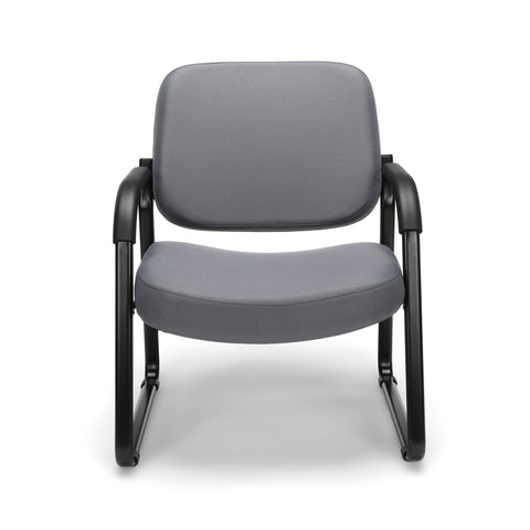 OFM Model 407 Fabric Big and Tall Guest and Reception Chair with Arms, Gray ; UPC: 845123028551 ; Image 2