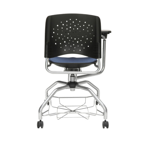 OFM Stars Foresee Series Tablet Chair with Removable Fabric Seat Cushion - Student Desk Chair, Navy (329T) ; UPC: 845123094150 ; Image 3